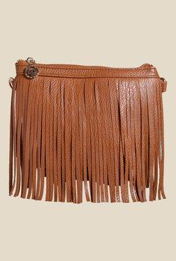 Lino Perros Brown Fringe Sling Bag