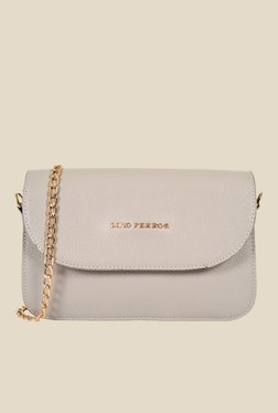 Lino Perros Grey Chain Strapped Sling Bag