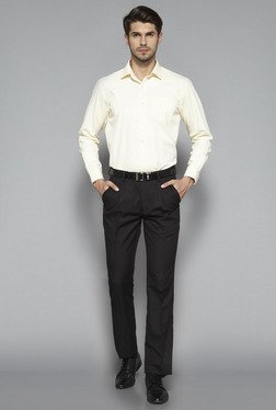 Weststreet by Westside Yellow Regular Fit Shirt