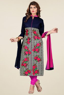 Thankar Multicolor Printed Semi Stitched Salwar Suit