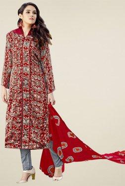 Thankar Red Printed Salwar Suit