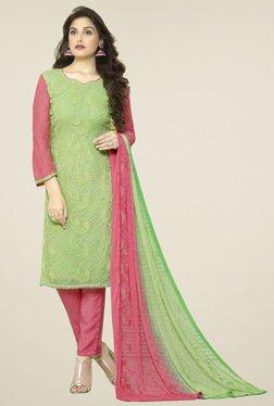 Thankar Green Embroidered Salwar Suit With Dupatta