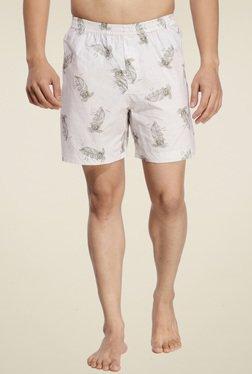 Ennoble Off-White Printed Cotton Boxers