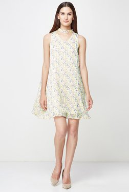 AND Off White Printed Dress