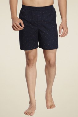 Ennoble Navy Cotton Regular Fit Printed Boxers