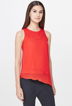 AND Red Embellished Top