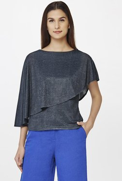 AND Grey Textured Top