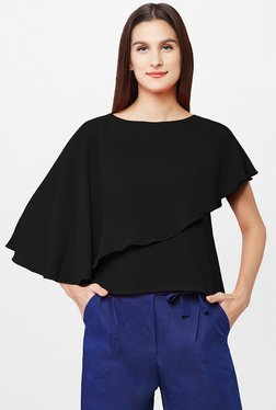 AND Black Solid Top