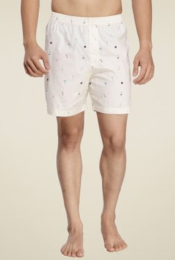 Ennoble Off-White Regular Fit Printed Boxers