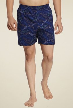 Ennoble Blue Regular Fit Cotton Boxers