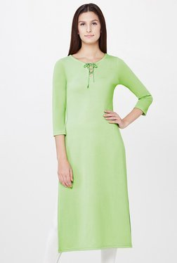 AND Green Solid Tunic