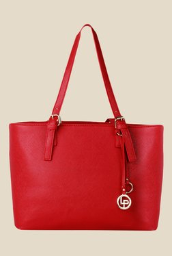 Lino Perros Red Solid Tote Bag - Mp000000001150272