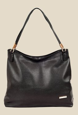 Lino Perros Black Solid Hobo Bag