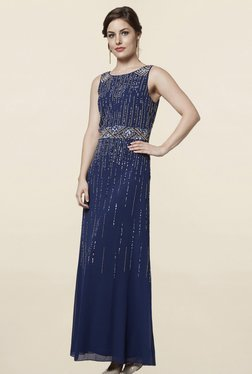 FG4 London Aurora Sparkle Navy Embellished Dress