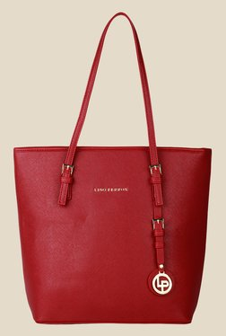 Lino Perros Red Solid Tote Bag - Mp000000001150730