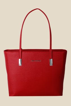 Lino Perros Red Solid Tote Bag