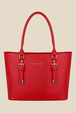Lino Perros Red Solid Tote Bag - Mp000000001150772