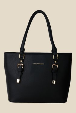 Lino Perros Black Solid Tote Bag - Mp000000001150779