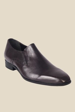Salt 'n' Pepper Arman Dark Brown Formal Slip-Ons