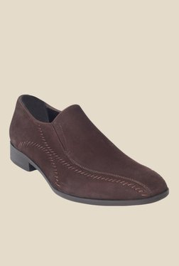 Salt 'n' Pepper Arman Dark Brown Formal Slip-Ons - Mp000000001151947