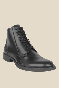 Salt 'n' Pepper Ray Black Derby Boots