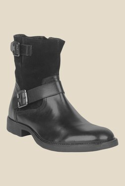 Salt 'n' Pepper Ray Black Biker Boots