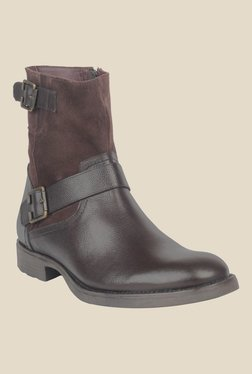 Salt 'n' Pepper Ray Dark Brown Biker Boots