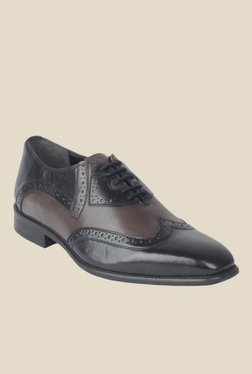 Salt 'n' Pepper Figo Black & Vulcane Derby Shoes