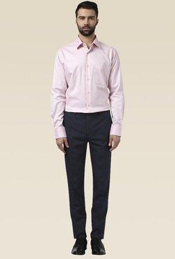 Raymond Light Pink Regular Fit Printed Shirt