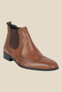 Salt 'n' Pepper Arman Almond Tan Brogue Chelsea Boots