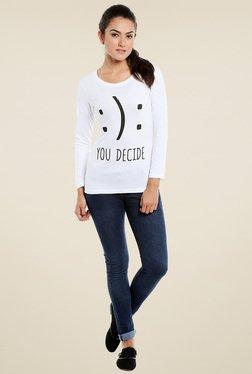 Loco En Cabeza White Round Neck T-Shirt