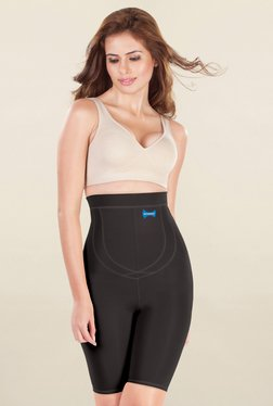 Dermawear Black Solid High Waist Shapewear