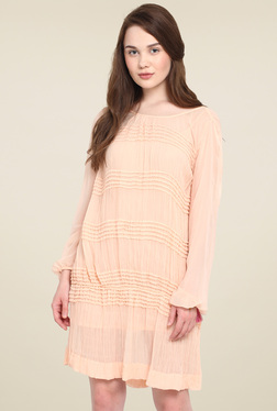 Mocking Bird Peach Regular Fit Dress