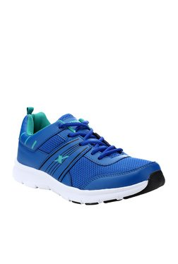Sparx Royal Blue & Sea Green Running Shoes
