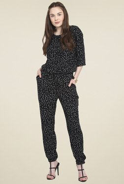 Mocking Bird Black Short Sleeves Jumpsuit