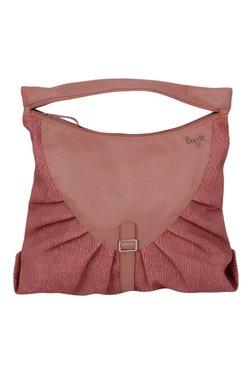 Baggit Bonkers Jhuti Rose Pink Textured Shoulder Bag