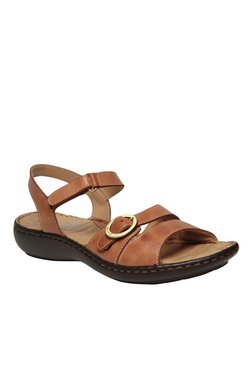 Scholl Rio Brown Ankle Strap Wedges
