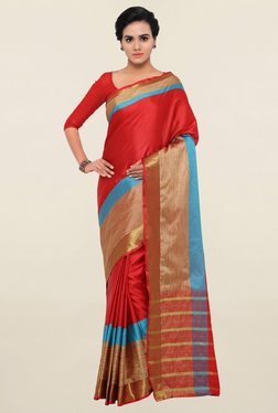 Triveni Red Art Silk Saree