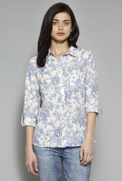 LOV By Westside Off White Ashley Floral Print Blouse