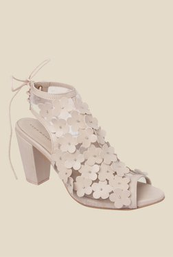 Vero Moda Bloom Nude Back Strap Sandals