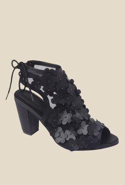 Vero Moda Bloom Black Back Strap Sandals