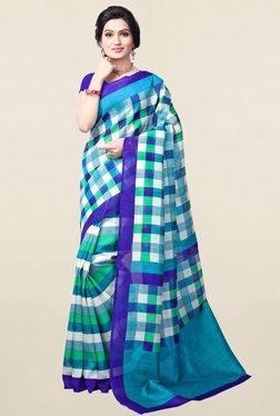 Ishin Multicolor Striped Bhagalpuri Art Silk Saree