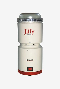Inalsa Jiffy Grinder 200ml SS Jar Mixer Grinder (White)