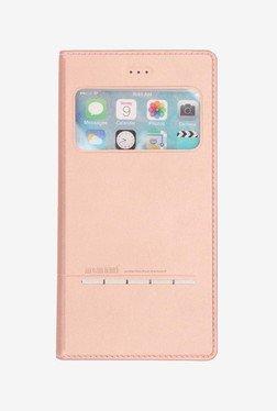 Memumi Wisdom Series Flip Cover for iPhone 6S+ (Rose Gold)