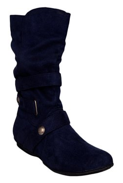 Bruno Manetti Navy Casual Booties