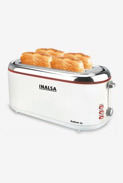 Inalsa Radiant 4S 4 Slice 1300 W Pop Up Toaster (White)