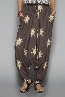 Bombay Paisley By Westside Brown Printed Afghan Pants