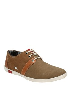 High Sierra Khaki & Brown Casual Shoes