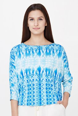 AND Blue Printed Top - Mp000000001174415