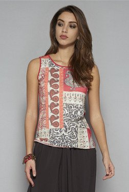 Bombay Paisley by Westside Multicolor Printed Tank Top